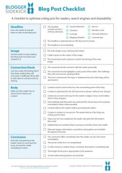 Blogger Sidekick | Blog Post Checklist - Blogger Sidekick