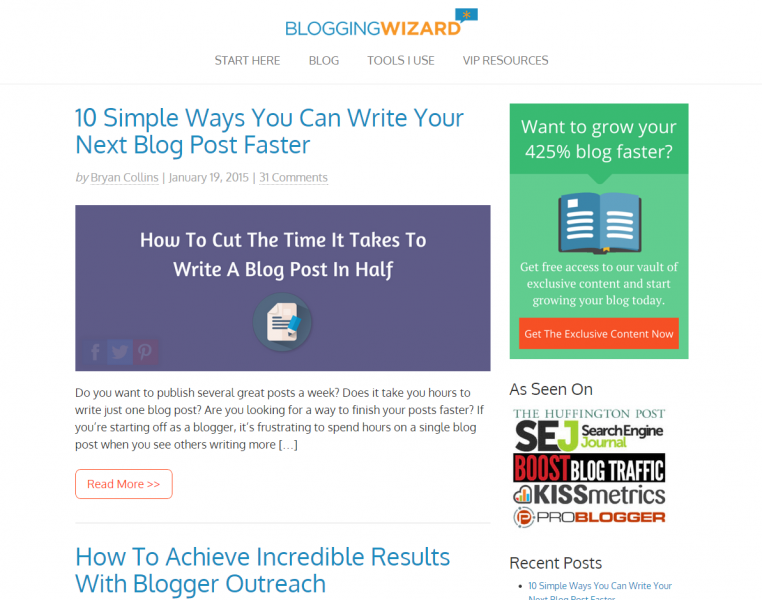 Blogging Wizard Successful Blog Design
