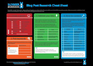 Blogger Sidekick | Blog Post Research Cheat Sheet (Free ...