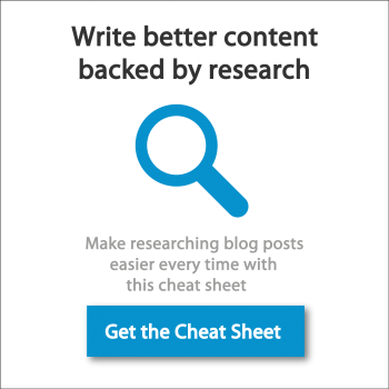 Blog Post Research Cheat Sheet
