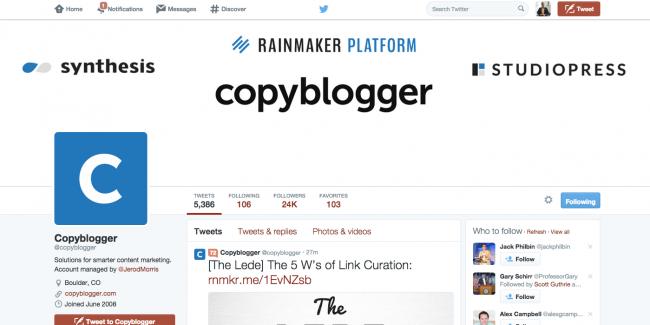 Copyblogger Twitter Design