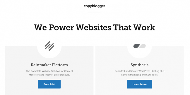 Copyblogger Website Design