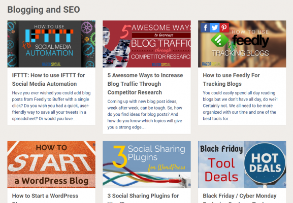 Razor Social Consistent Image Examples for Blog