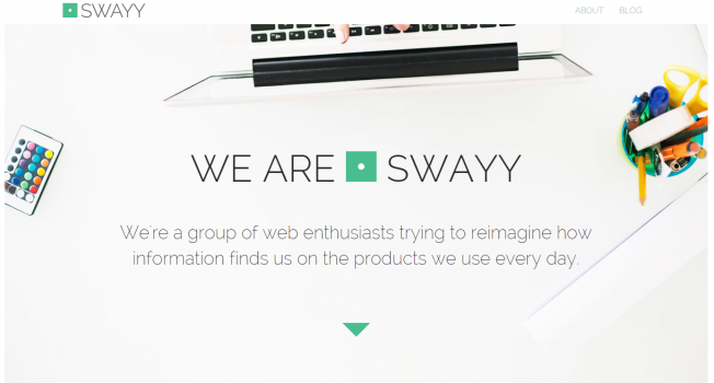 Swayy About Us Page - Top