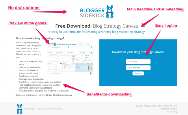 Blog Strategy Canvas List Building Page