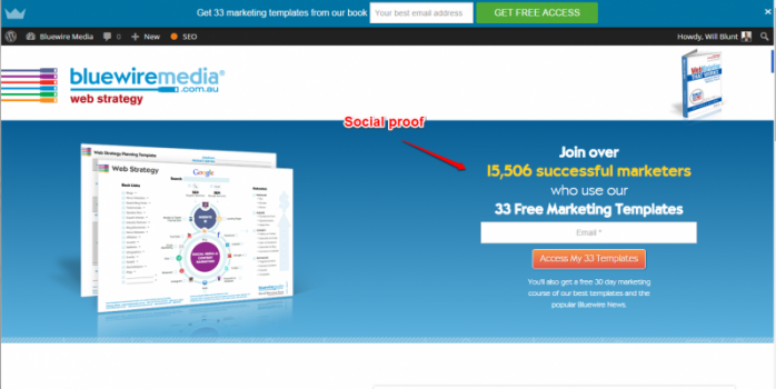 Bluewire media email list building social proof