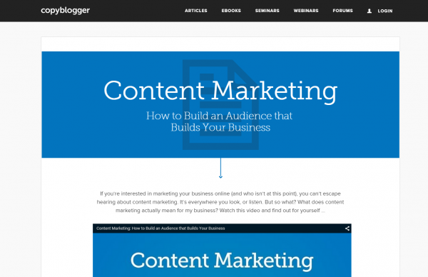 Copyblogger Content Marketing SEO Strategy Page Screenshot