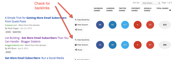 BuzzSumo check for backlinks image