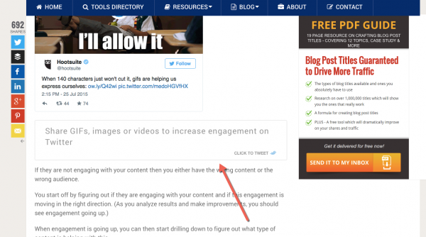 Razor social clicktotweet for getting more traffic to your blog