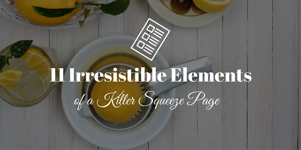 11 Irresistible Elements of a Killer Squeeze Page