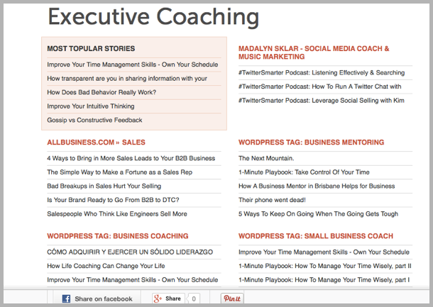 How to guest blog - executive coaching example on AllTop