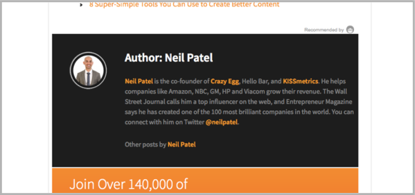 Neil Patel on CMI - how to guest blog