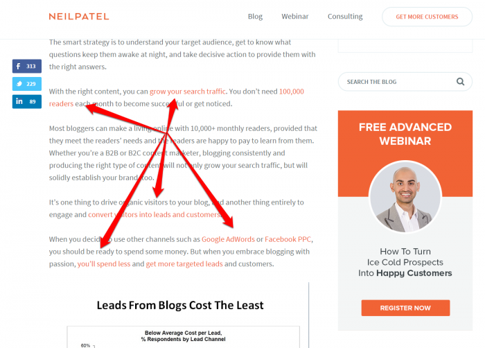 Neil Patel outbound link example
