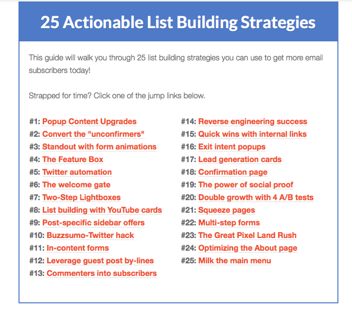 Robbie Richards list building tactics for tracking blog metrics