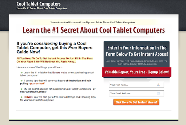 11 irresistible elements of a killer squeeze pageexample squeeze page