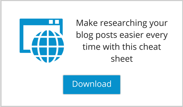 Blog Post Research Cheat Sheet Lead Magnet Image