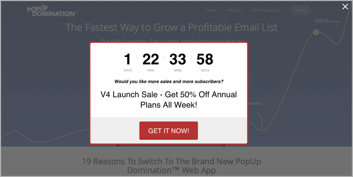 Blogger Sidekick | Popup domination example with countdown timer