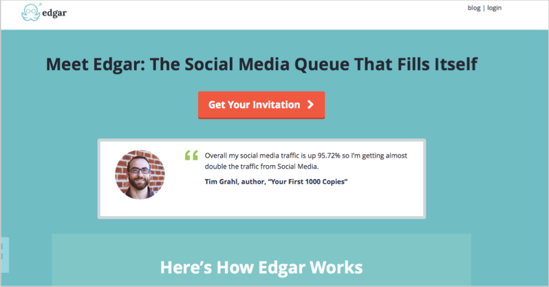 Meet Edgar for blog outsourcing management