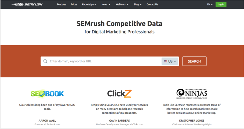SEMrush for blog outsourcing management