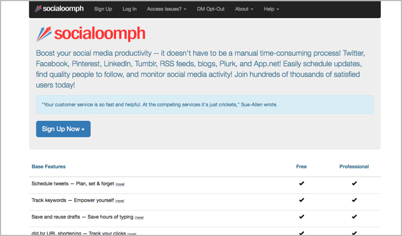 SocialOomph for blog outsourcing