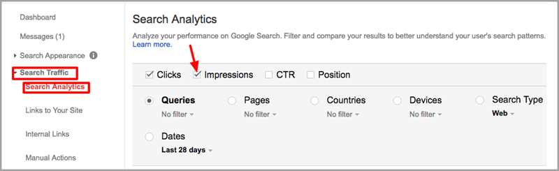 Search Console Search Analytics http www.courtneydanyel.com