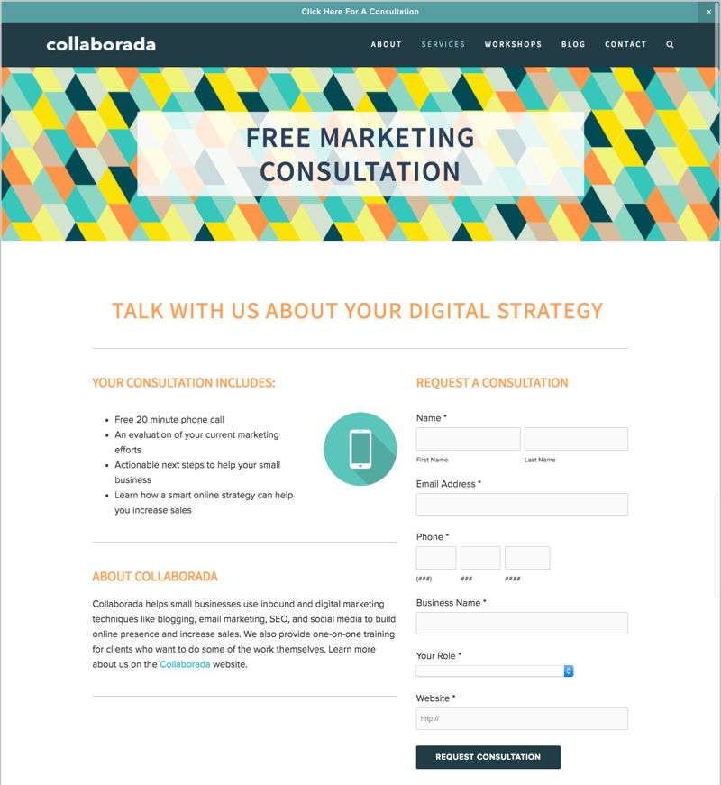 Free Marketing Consultation as a lead magnet idea