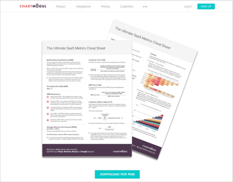 SaaS cheat sheet for lead magnet ideas