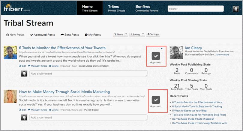 Blogger Sidekick | Triberr approve Button - Blogger Sidekick