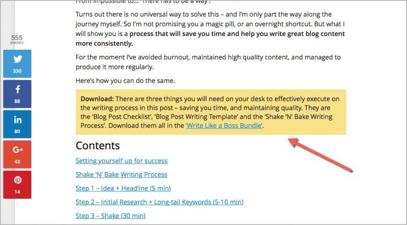 Write like a boss bundle lead magnet idea