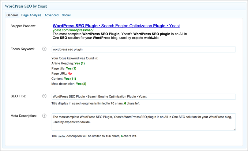 plugins for SEO