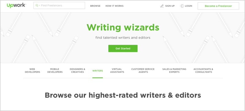 UpWork for finding blog contributors