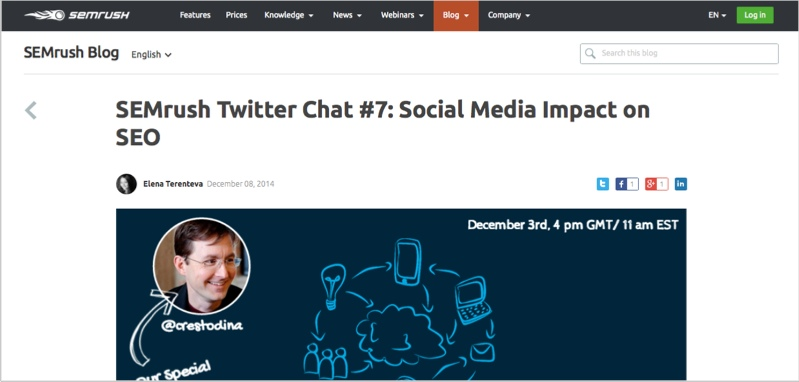 SEMrush twitter chat